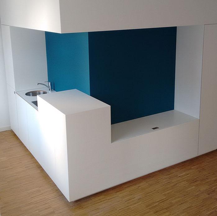 Wandgestaltung Küchennische