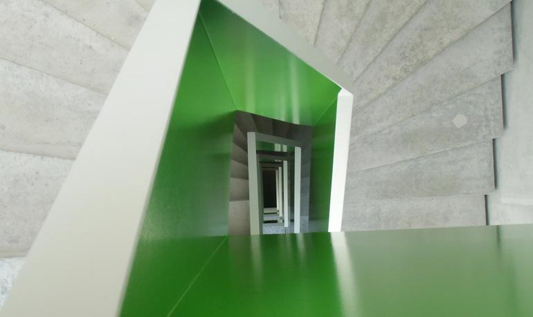 Lackierung eines Treppenhauses